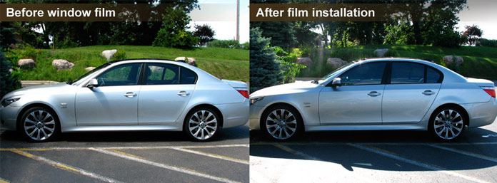 BMW after window tinting.